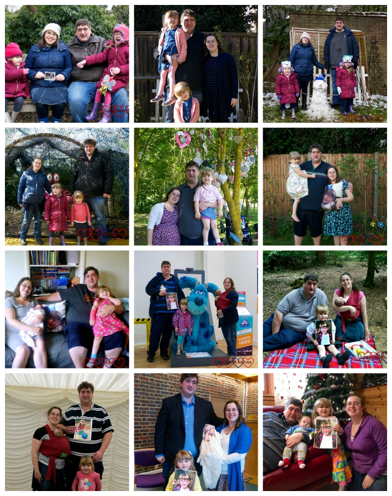 12 Me and Mine photos - one for each month of 2018