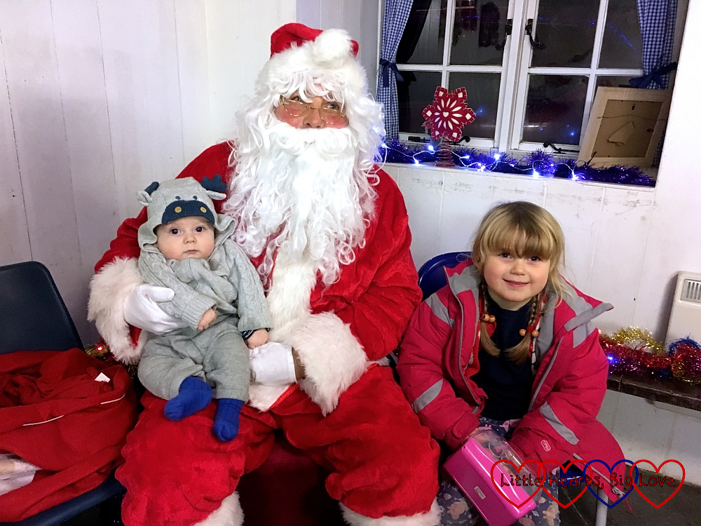 Sophie and Thomas with Father Christmas