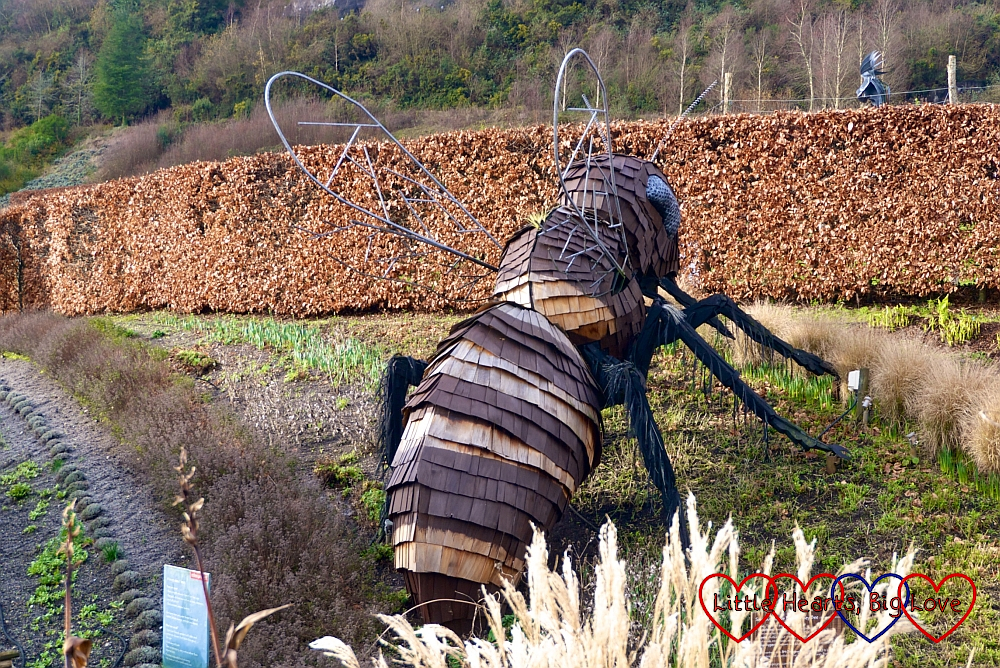 The giant bee sculpture