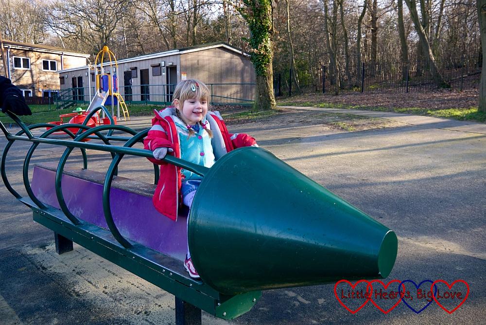 Sophie in a rocking rocket