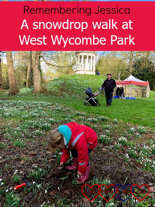 "Sophie planting a snowdrop in memory of Jessica at West Wycombe Park - ""Remembering Jessica: A snowdrop walk at West Wycombe Park"""
