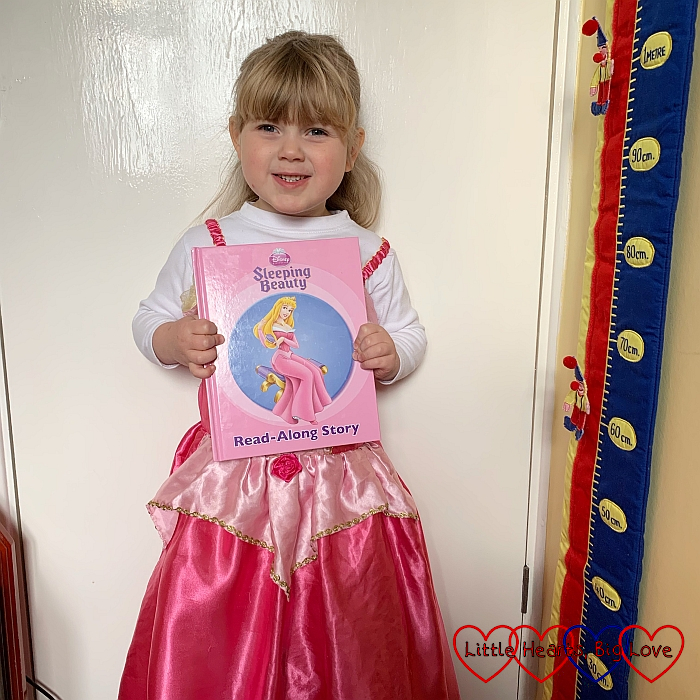 Sophie dressed as Sleeping Beauty for World Book Day