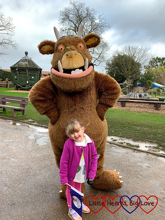 Sophie with the Gruffalo