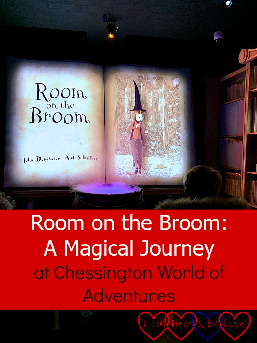 """A storybook with the beginning of the story of Room on the Broom – """"Room on the Broom: A Magical Journey at Chessington World of Adventures"""""""