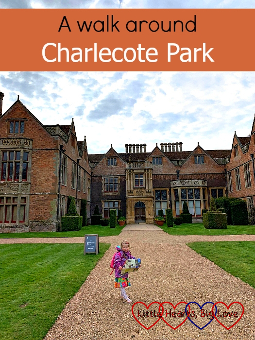 "Sophie standing in front of the house at Charlecote Park – ""A walk around Charlecote Park"""