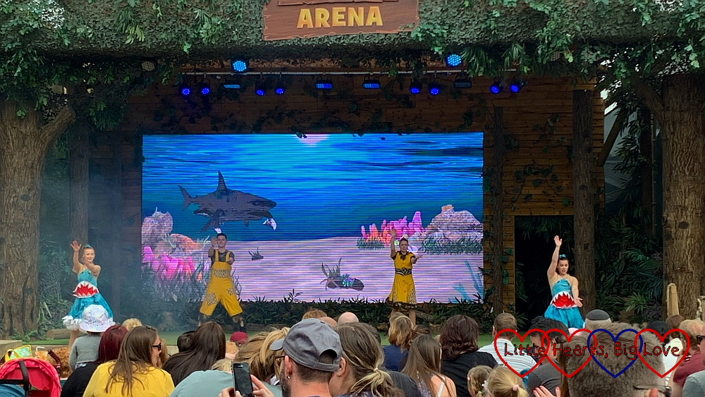 The dancers in the Gruffalo Groove show performing 'Baby Shark'