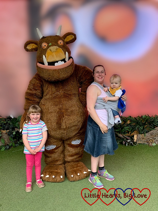 Sophie, me and Thomas with the Gruffalo