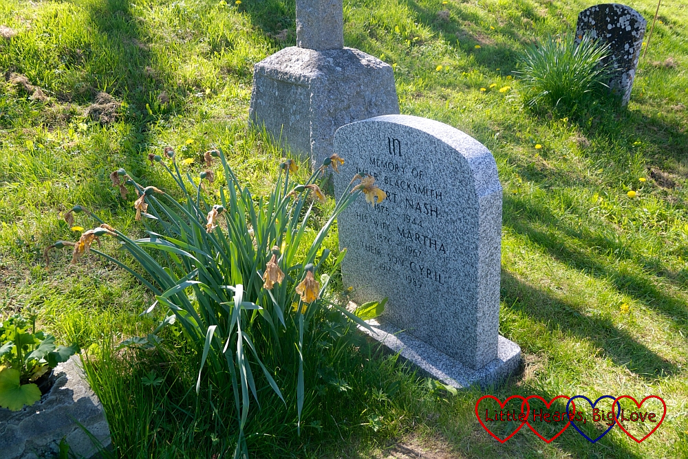 The grave of Albert Nash, Imber's last blacksmith, his wife Martha and their son Cyril