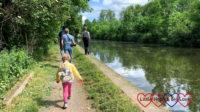 Sophie walking along the Grand Union canal near Denham