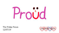 The word 'proud' with a smiley face at the 'u'