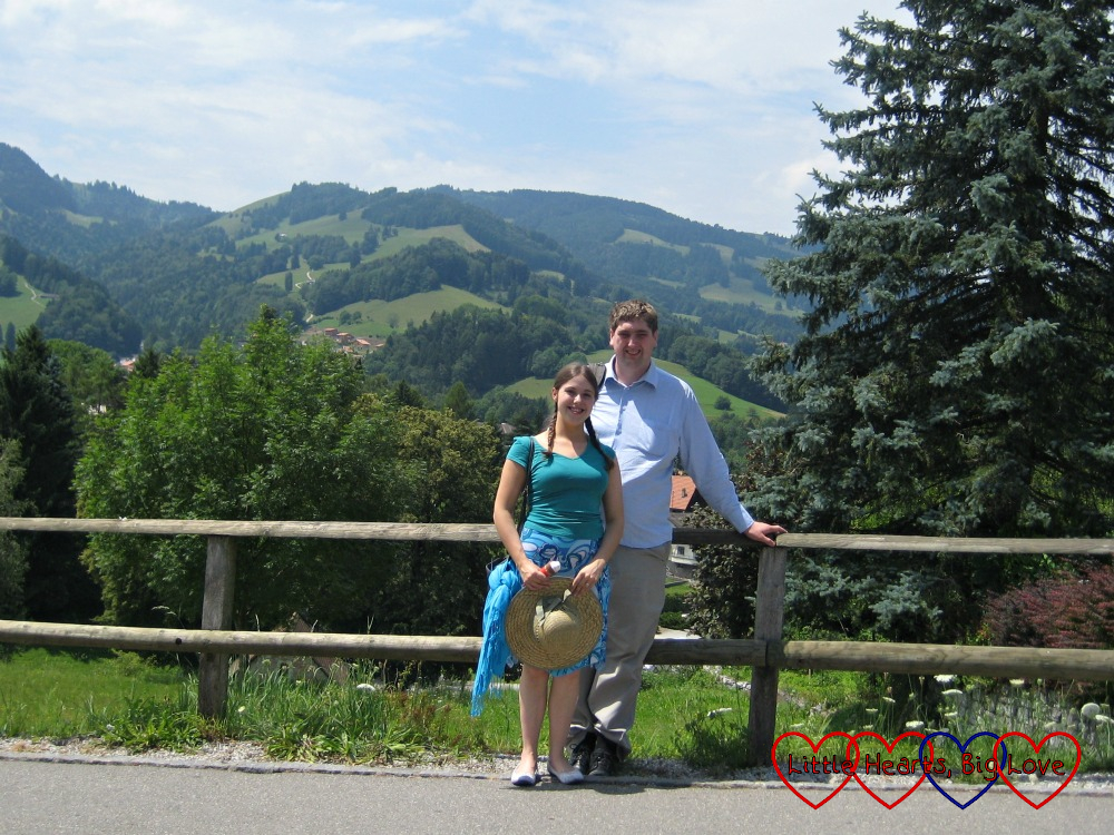 Me and my husband in Geneva on our honeymoon