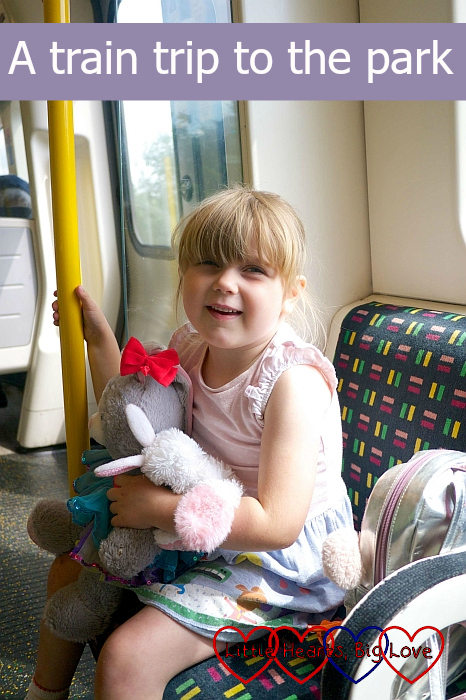 "Sophie sitting on the tube - ""A train trip to the park"""