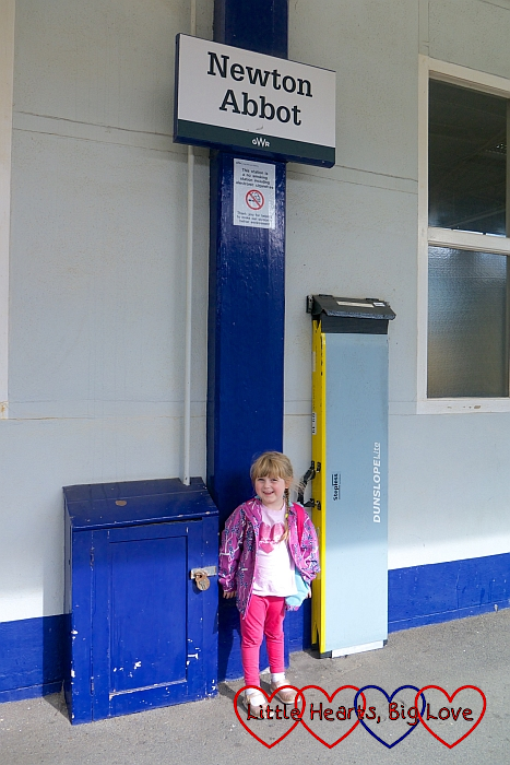 Sophie at Newton Abbot station