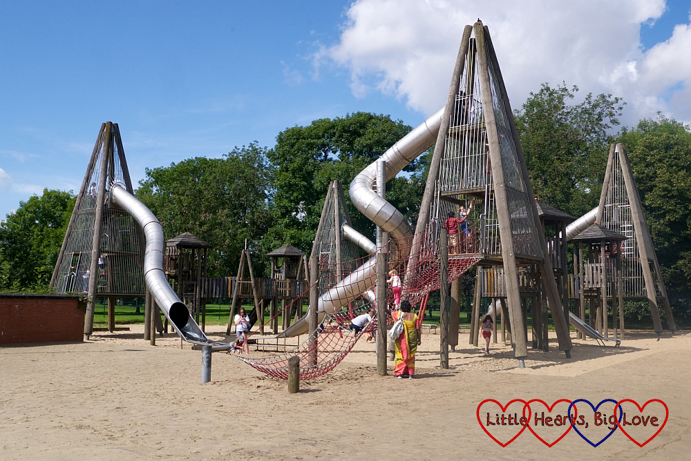 The playground in Glasgow Green