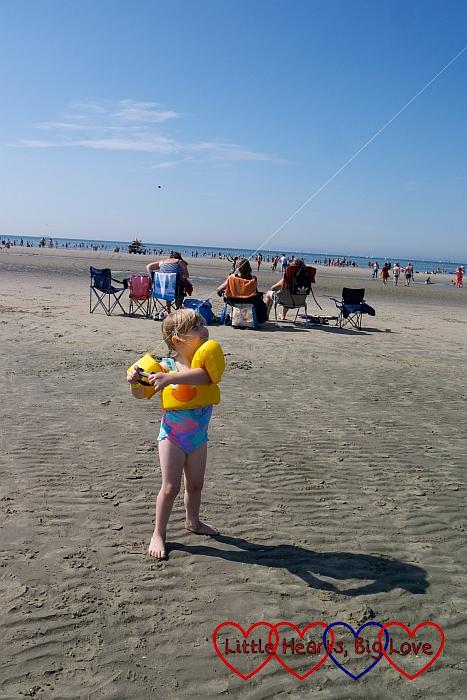 Sophie flying her kite