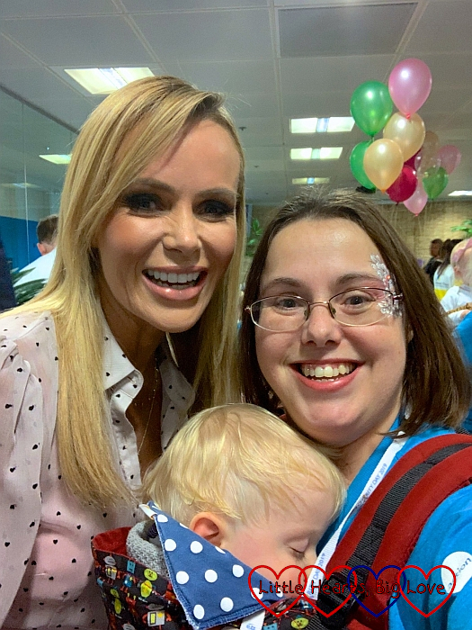 Me and Thomas with Amanda Holden
