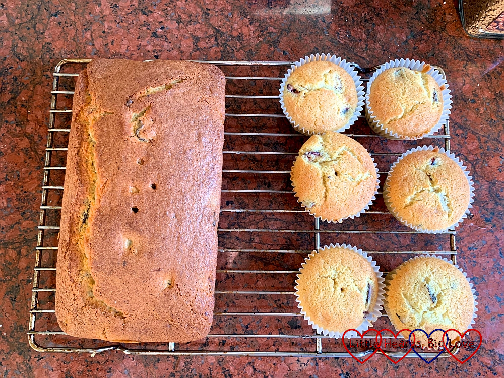 Plum loaf and plum muffins