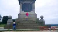 Sophie and Thomas at the Boer War Monument on Coombe Hill