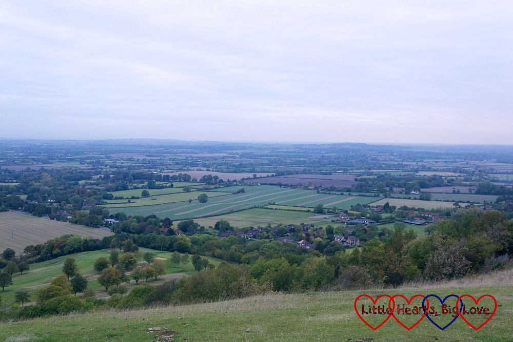 The view across the Chilterns from Coombe Hill
