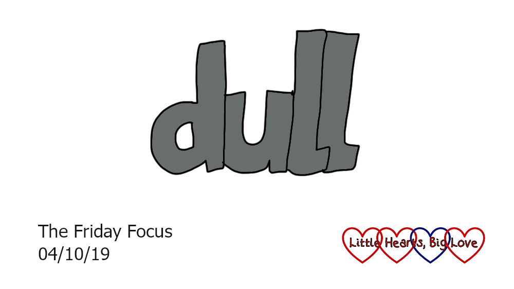 the word 'dull' in grey letters