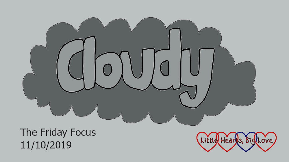 The word 'cloudy' in a grey cloud