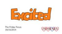 Excited - this week's word of the week