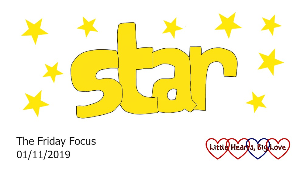 The word 'star' surrounded by yellow stars