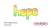 The word 'hope' in rainbow colours