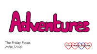 The word 'adventures'