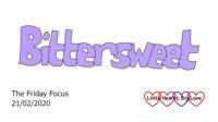 The word 'bittersweet' in purple