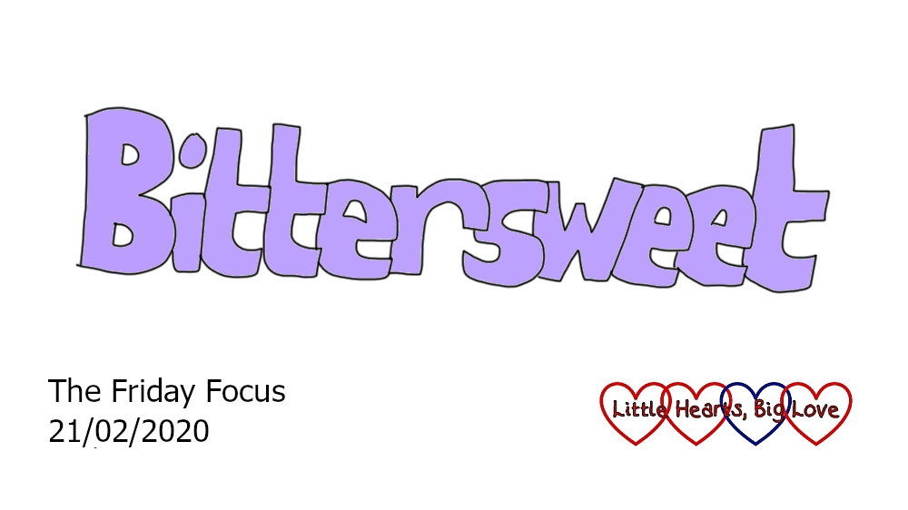 The word 'bittersweet' in purple