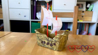 An explorer ship made from a margarine tub
