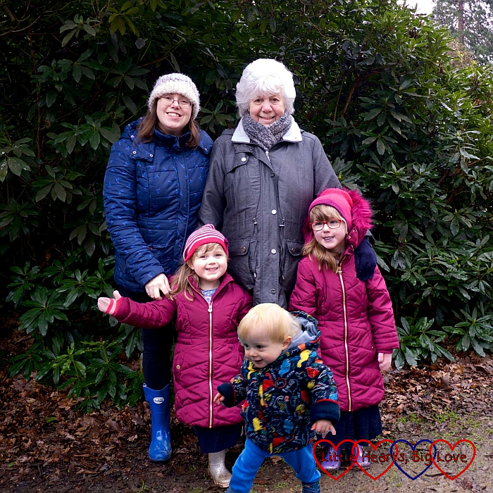 Me and my mum with Jessica and Sophie at Langley Park (and Thomas added in at the front thanks to the magic of Photoshop!)