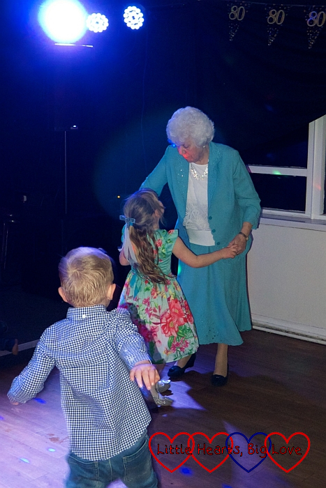 My mum dancing with Sophie at her 80th birthday party