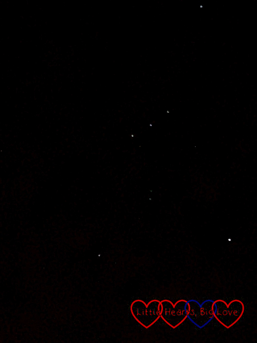 The constellation Orion in the night sky