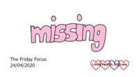 The word 'missing' in pink
