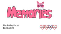The word 'memories' in pink with a pink butterfly over the 'i'