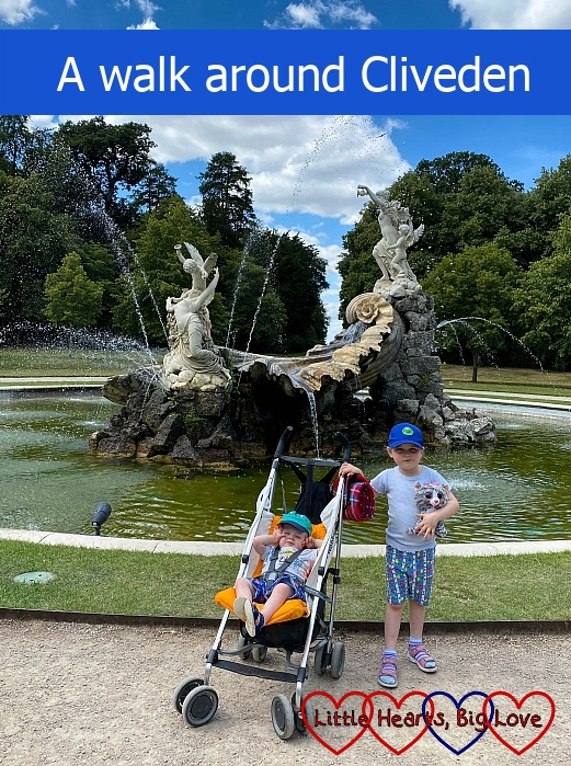 "Sophie and Thomas in front of the Fountain of Love at Cliveden - ""A walk around Cliveden"""