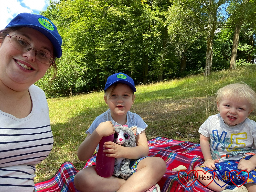 Me, Sophie and Thomas enjoying a picnic