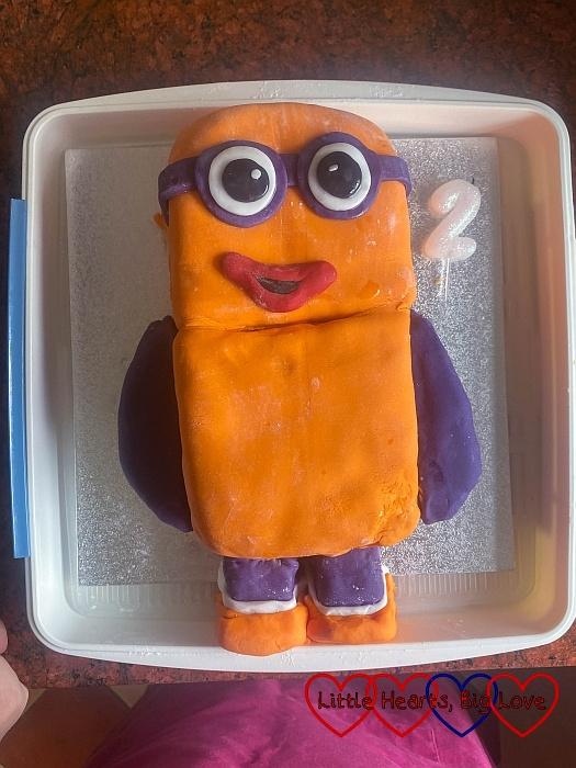A Numberblocks 2 birthday cake