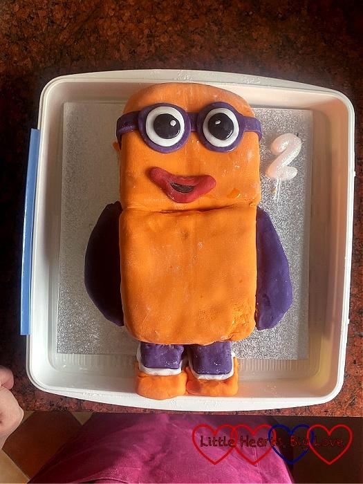 Thomas's Numberblocks 2 birthday cake