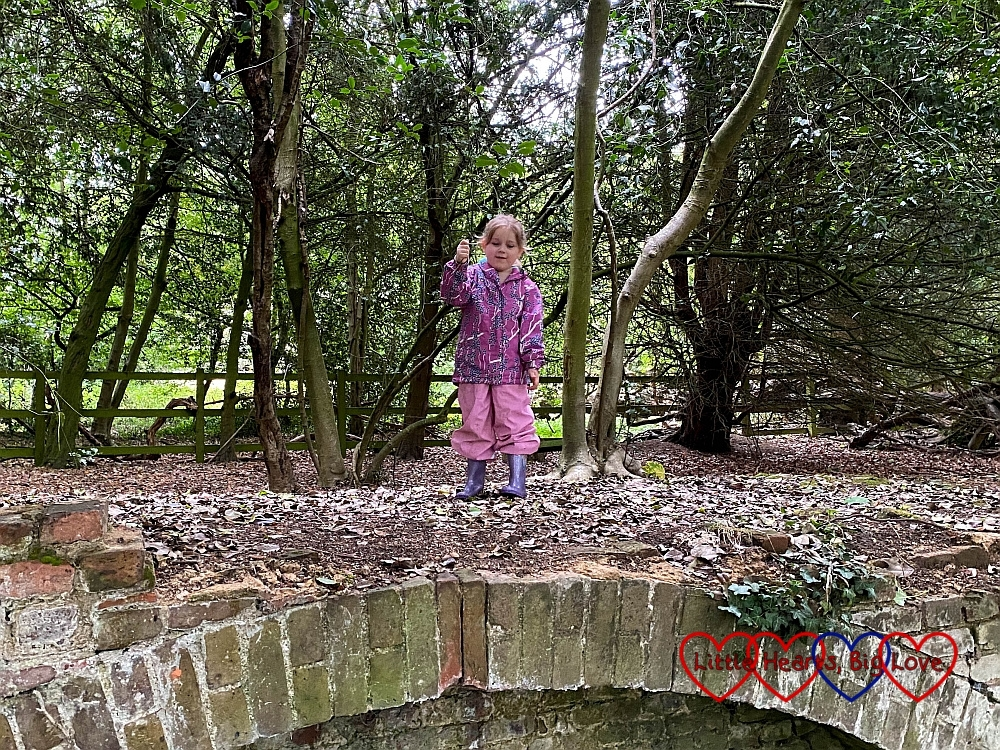 Sophie on the 'Billy Goats Gruff bridge'