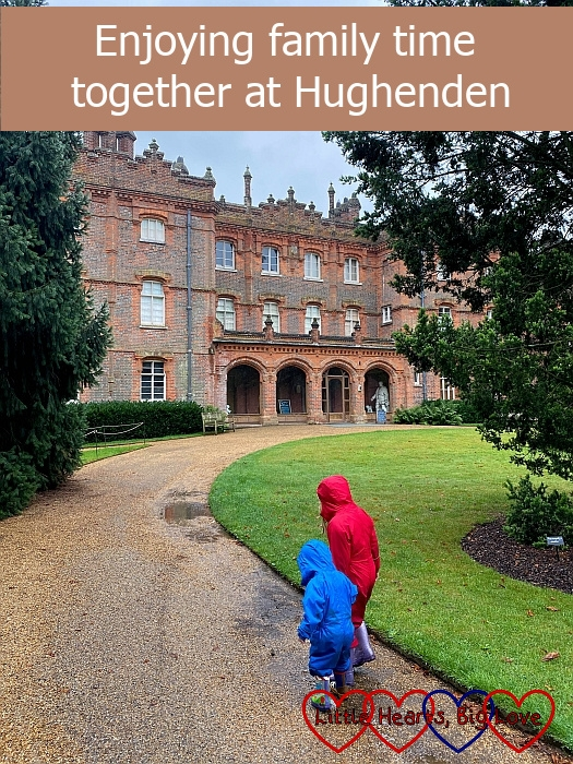 "Sophie and Thomas walking towards the house at Hughenden - ""Enjoying family time together at Hughenden"""