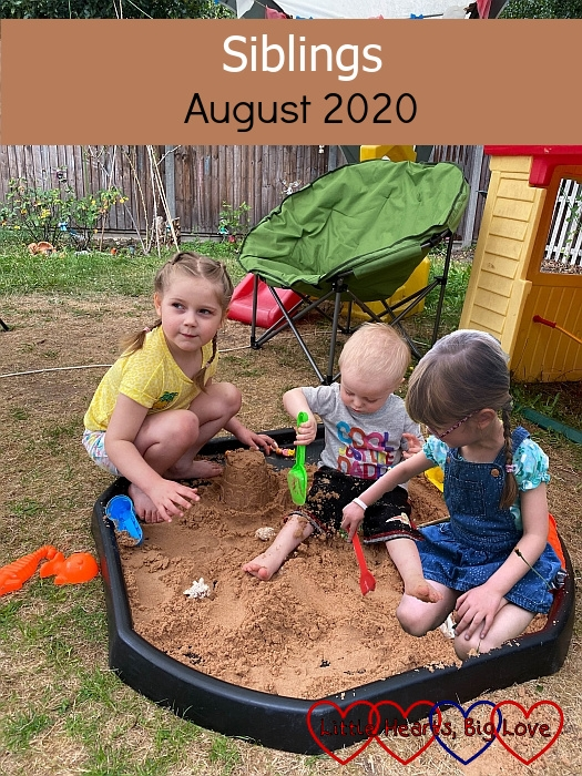 """Sophie, Thomas and Jessica playing in the sand together - """"Siblings - August 2020"""""""