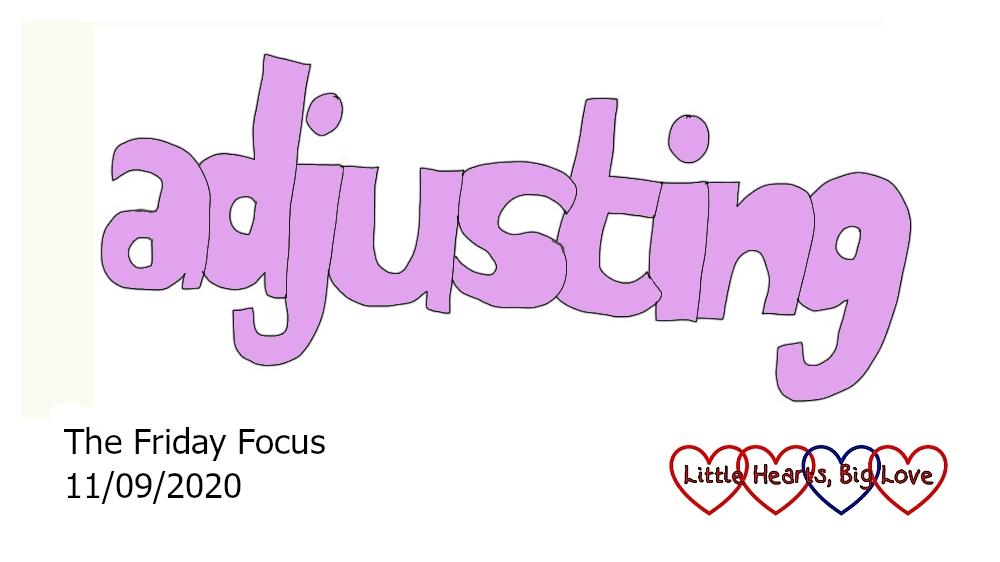 The word 'adjusting'