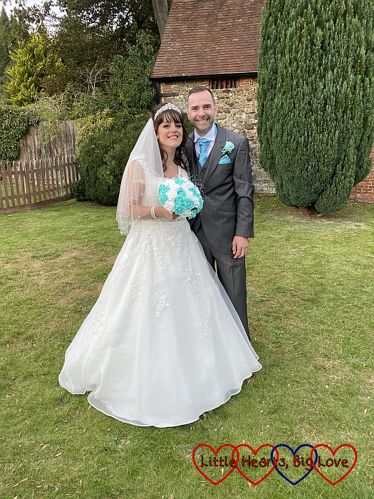 My twin sister and new brother-in-law on their wedding day