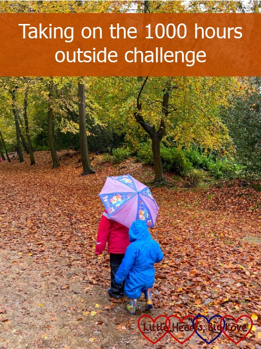 """Sophie and Thomas walking through fallen autumn leaves - """"Taking on the 1000 hours challenge"""""""