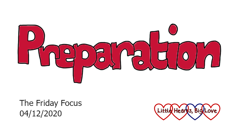 The word 'preparation' in red