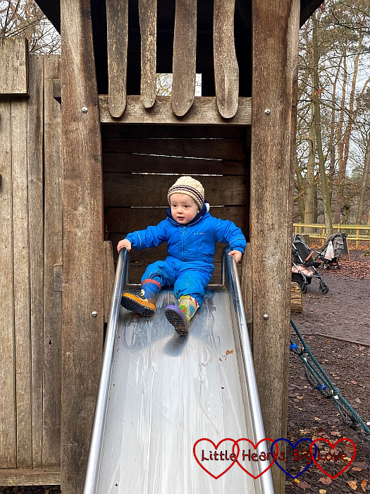 Thomas at the top of a slide