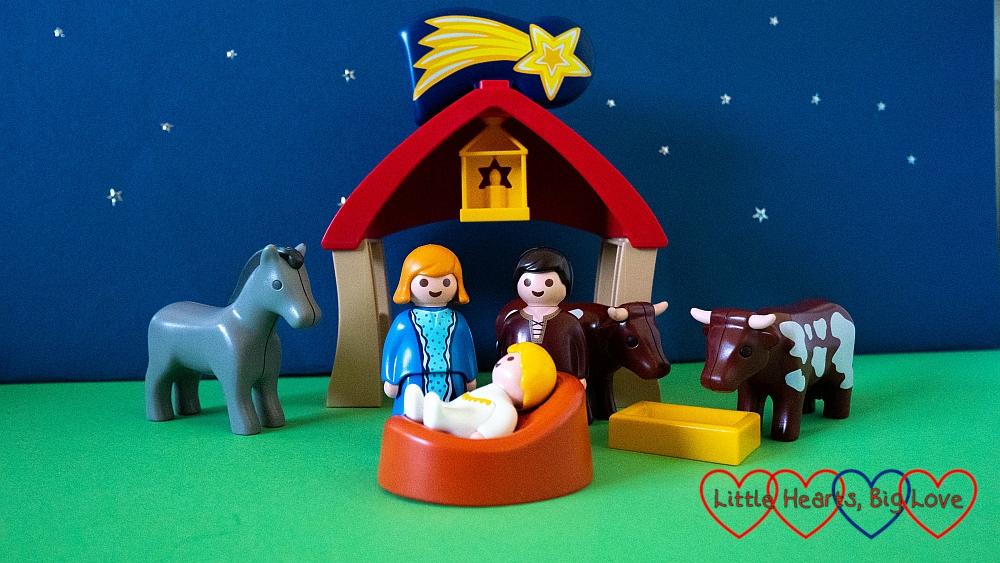 A nativity scene in Playmobil